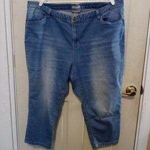 Catherines Capri Pants Size 2X Jean Denim Stretch